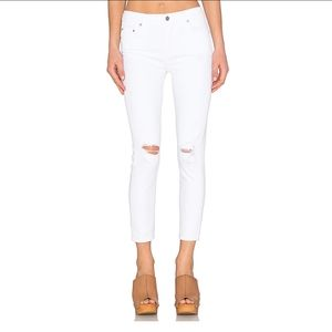 CITIZENS OF HUMANITY, High rise Rocket Crop white